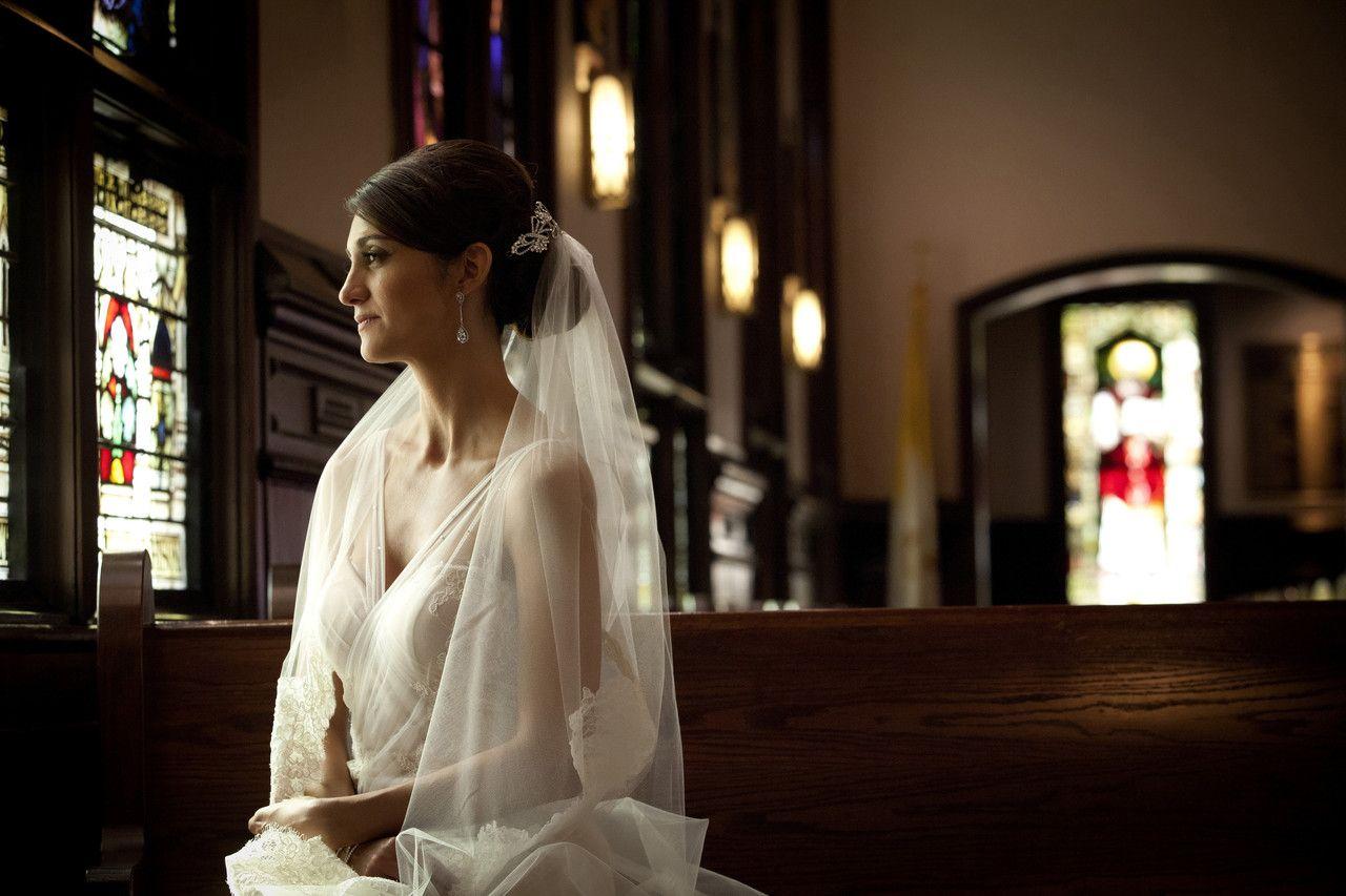 Wedding decorations inside church  Real LDE Moment Jacquie u Jasonus Palm Beach Wedding  A Lauren