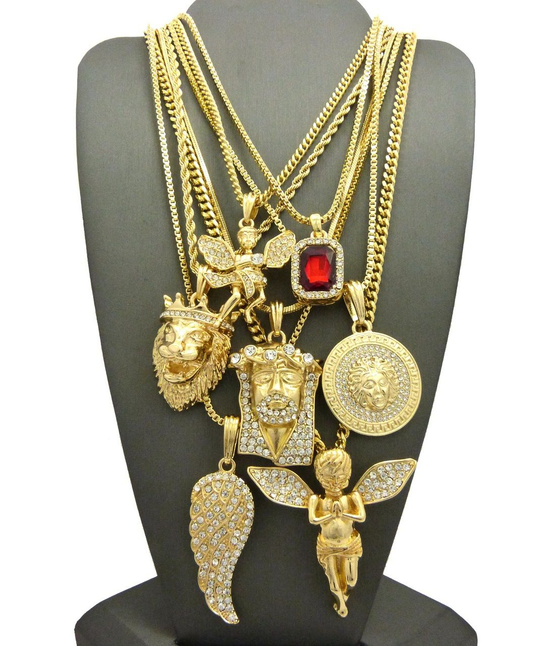 Evil is Present Jesus Piece 14k Gold Ultra Baller Hip Hop Chains