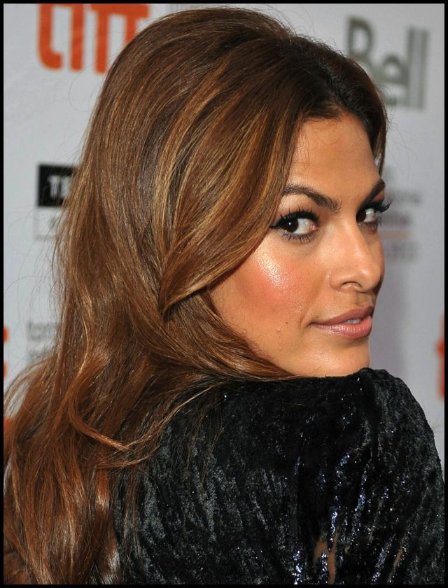 like: the golden-ness of the highlights | Eva mendes hair ... |Eva Mendes Hair Color