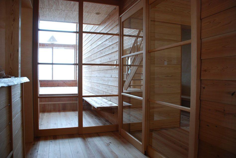 横桟付きのガラス建具 かど 建築家 リノベーション リフォーム