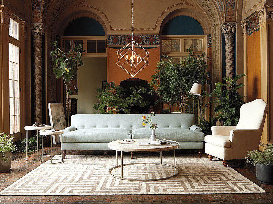 hemisphere geode chandelier in silver  arhaus furniture