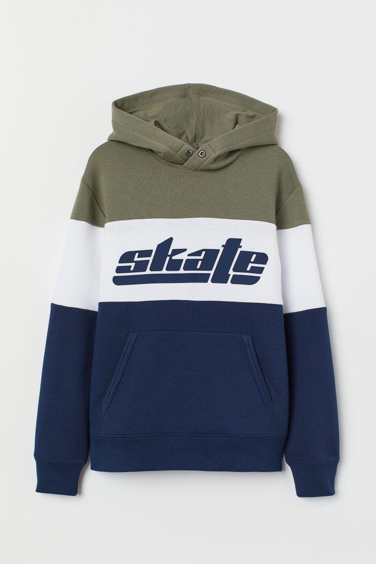 Printed Hoodie Dark Blue Skate Kids H M Us Sweatshirts Printed Hooded Sweatshirt Hooded Sweatshirts [ 1152 x 768 Pixel ]