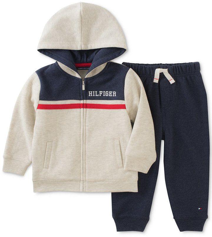 1d0321b46 Tommy Hilfiger 2-Pc. Zip-Up Hoodie & Jogger Pants Set, Baby Boys (0-24  months)
