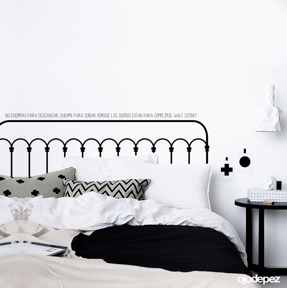 vinilo home 001 vinilo decorativo para el respaldar de la cama duerme para sonar porque los suenos estan para cumplirse