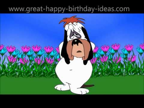 Droopy the Dog Sings Happy Birthday ♪ ♫ ♩ ♬