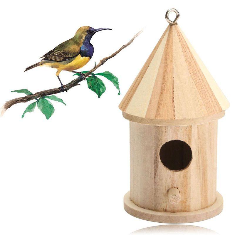 Suspendu Maison Oiseau Nichoir Nidification Jardin Décoration en Bois Boite