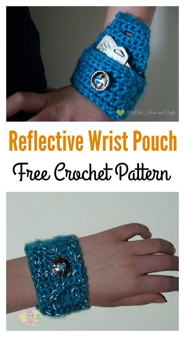 DIY Wrist Wallet Free Pattern | Kleine Geldbörse, Geldbörse und ...