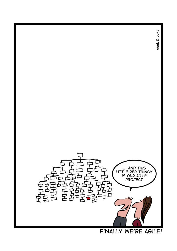 Finally we're agile! This is hilarious! Take break from