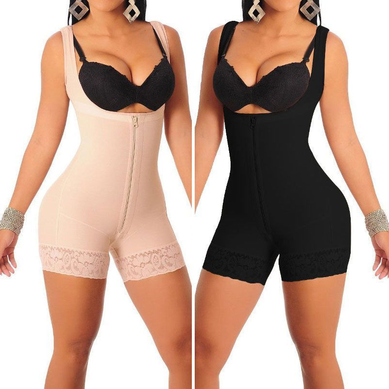 3d84843070838 Women Strappy Waist Trainer Corset Shapewear Full Body Open Bust Shaper  Bodysuit