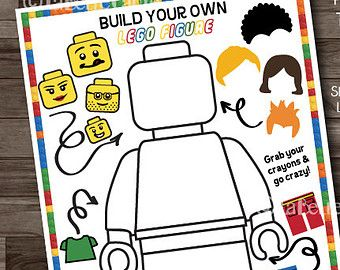 lego party games lego birthday party activity boys party lego coloring sheet