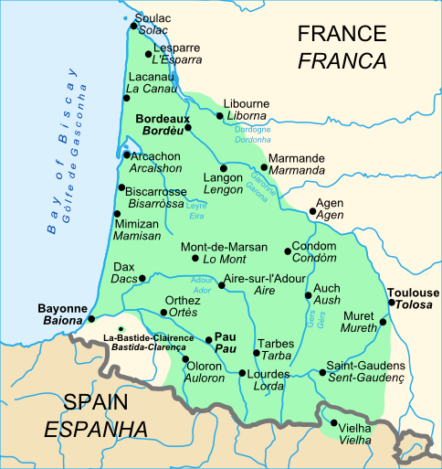 Map Of France Gascony.Gascony Green In France Cyrano De Bergerac Research Map