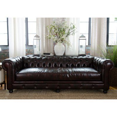 Elements Fine Home Estate Leather Sofa Est S Sadd 1 Sofas And Products