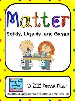 Matter science unit reading passages labs and task cards matter solids liquids and gases unit activities urtaz Choice Image