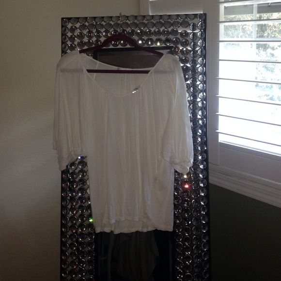 Jpark white blouse Size 2! Foley and amazing j park Tops Blouses