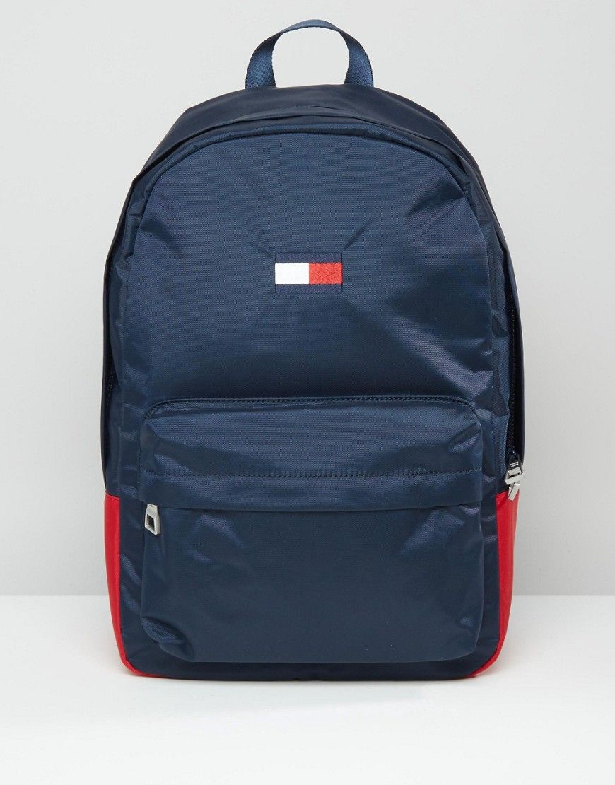 TOMMY HILFIGER EXCLUSIVE FLAG BACKPACK IN NAVY - NAVY.  tommyhilfiger  bags   denim  backpacks   5b07c968457