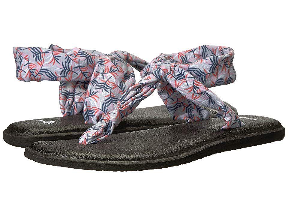 f623929ca Sanuk Yoga Sling Ella Prints (Grey Paradise Palms) Women s Sandals.  Superior comfort and