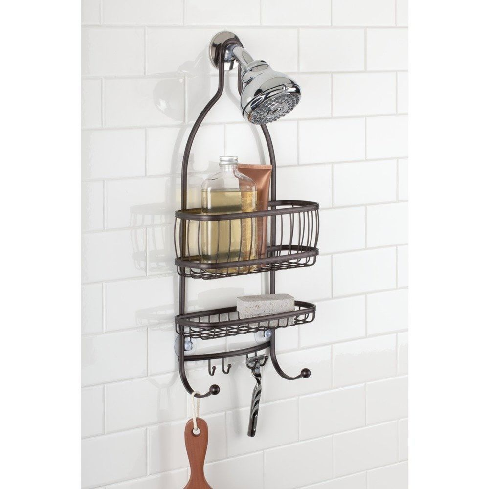 Bathroom Shower Head Storage Hanger Organizer Rack Soap Shampoo Razor Holder