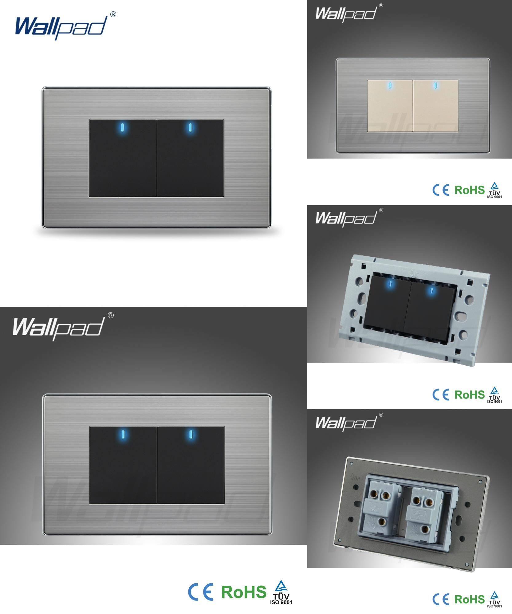 Visit To Buy  Hot Sale  2 Gang 2 Way Wallpad Push Button