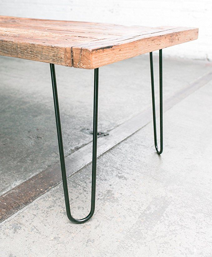 """16 Sophisticated Rustic Living Room Designs You Won T Turn: 16"""" Hairpin Legs (Satin Black) Industrial Strength Mid"""