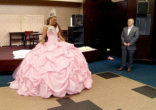 gypsy pink wedding gown w/ crown. i\'m jealous of the crown for sure ...