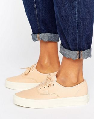 0434fbdd111fff Vans Authentic Dx Unisex Trainers In Neutral Leather ...