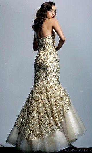 Fish Scale Wedding Dress Google Search High Fashion