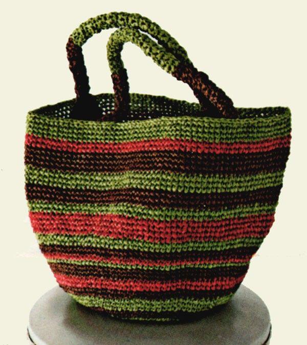Tasche Aus Bast Raffia Crochet Pinterest