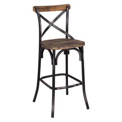 Acme Furniture Zaire Bar Stool Rustic Bar Stools Bar