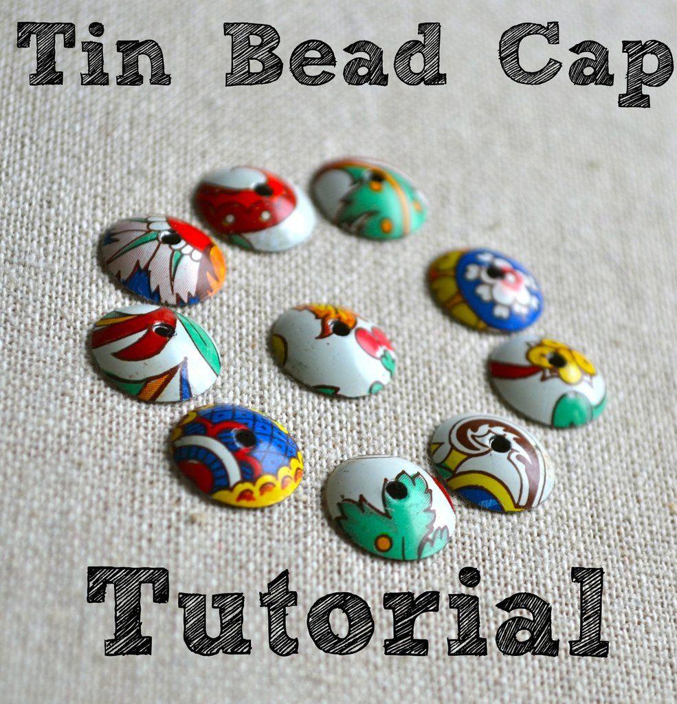 Tin Bead Cap Pdf Tutorial Bead Caps How To Make Beads Tin Jewelry Diy