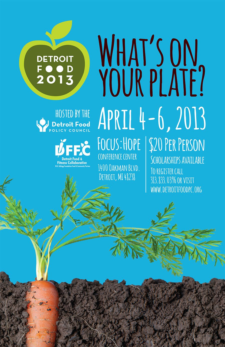 The Detroit Food Policy Council S What S On Your Plate Poster Was A Graphic Design Usa Award Winner Detroit Food Food Policy Food