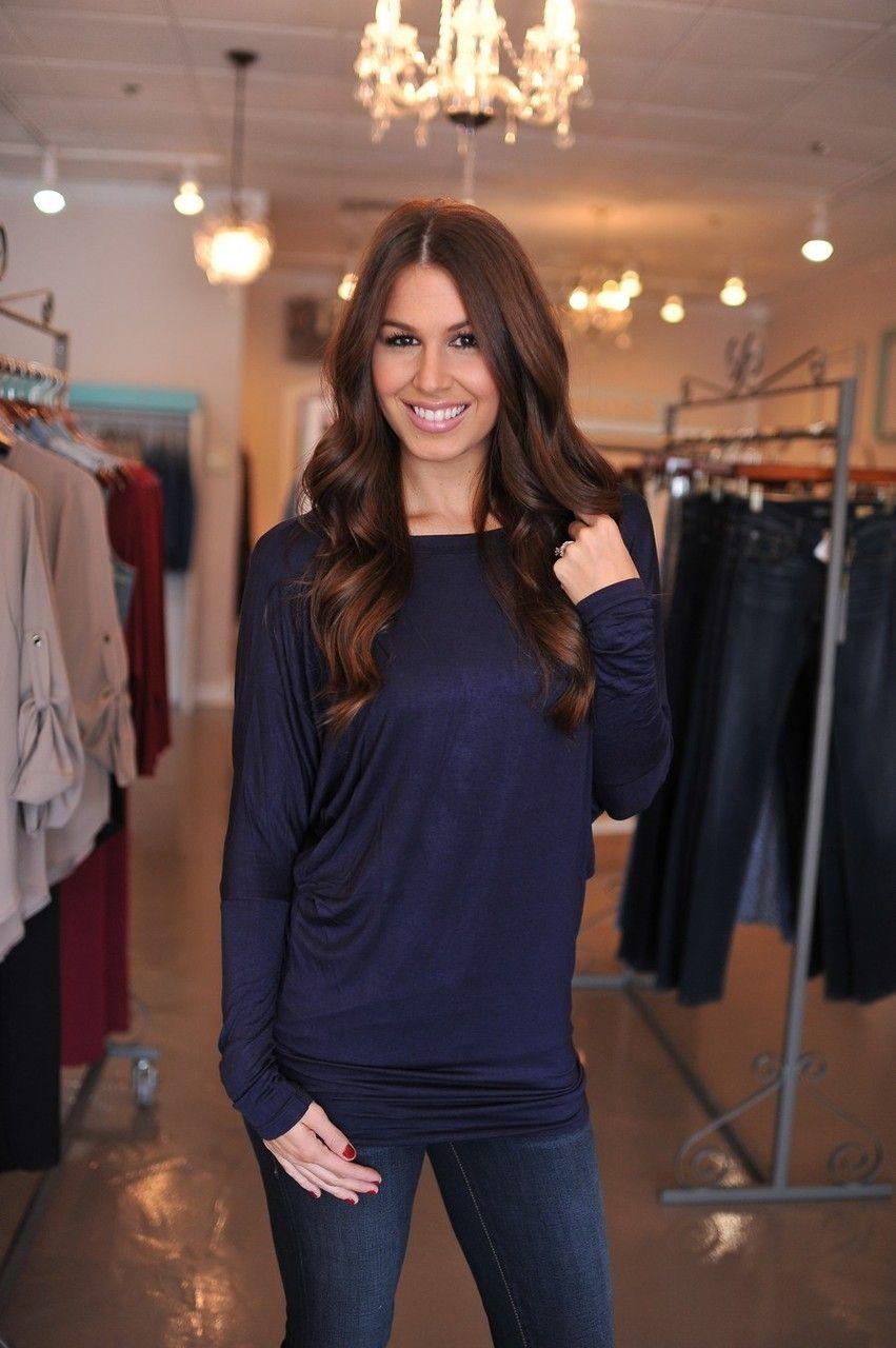 Dottie Couture Boutique - Navy Fine Knit Tunic, $26.00 (http://www.dottiecouture.com/navy-fine-knit-tunic/)