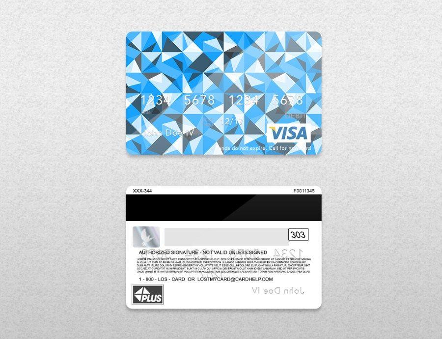 Bank card credit card layout psd template credit