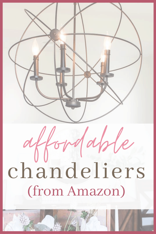 The best chandeliers on Amazon. I listed some affordable chandeliers from Amazon that would look great in any room in your house