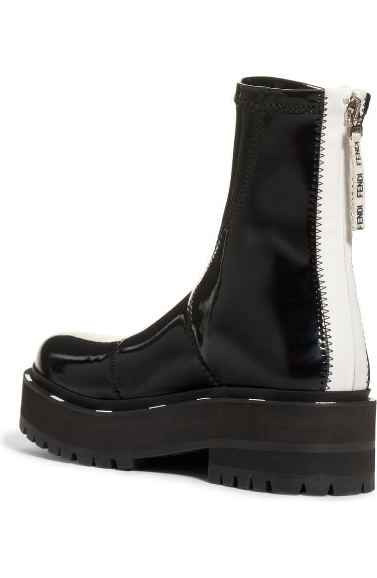 Fendi Zip Patent Combat Boot (Women