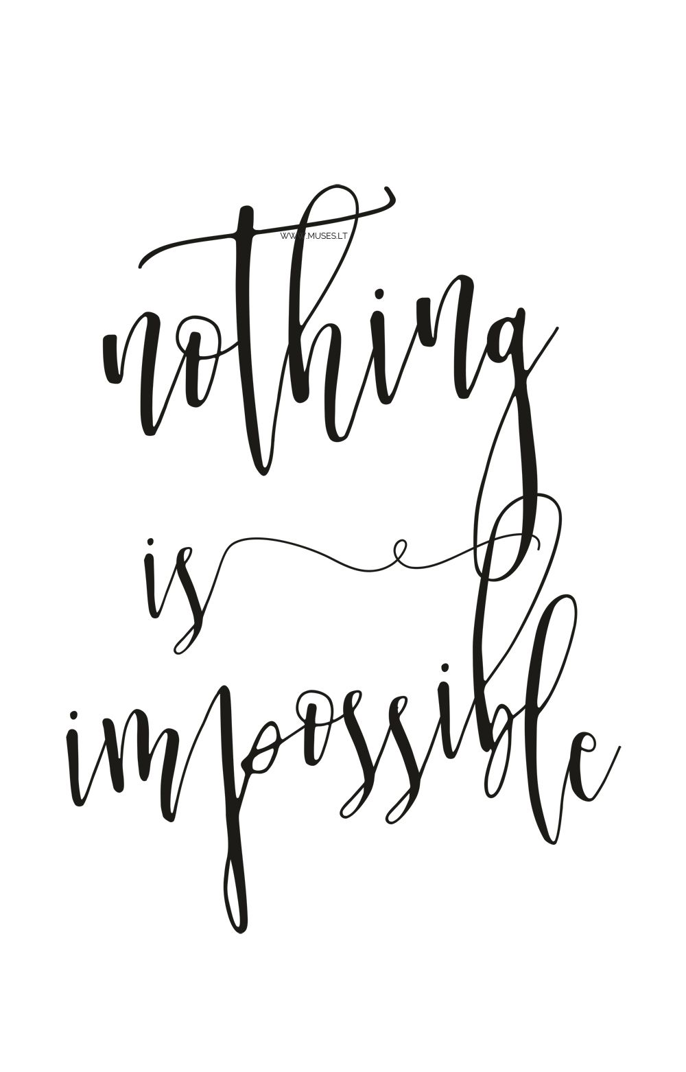Set x 2 motivational prints gift Believe in yourself Nothing is impossible