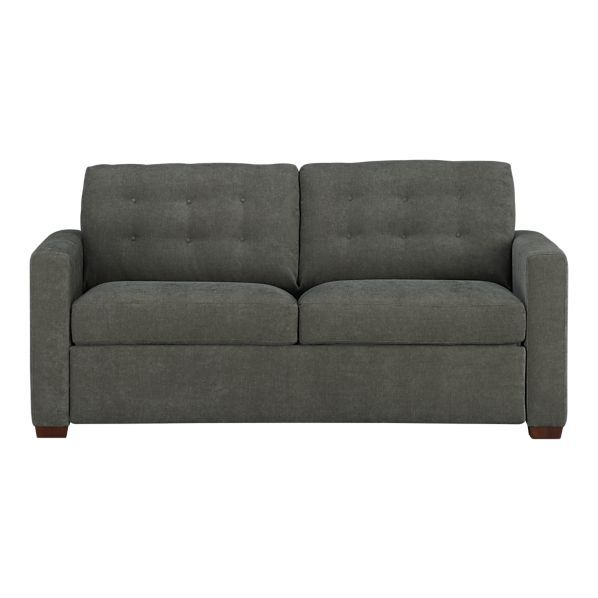 Contemporary Sleeper Plays Off Mid Century Tradition With Bold Squared Off Lines Clean Track Arms And A Sleeper Sofa Queen Size Sleeper Sofa Stylish Sofa Bed