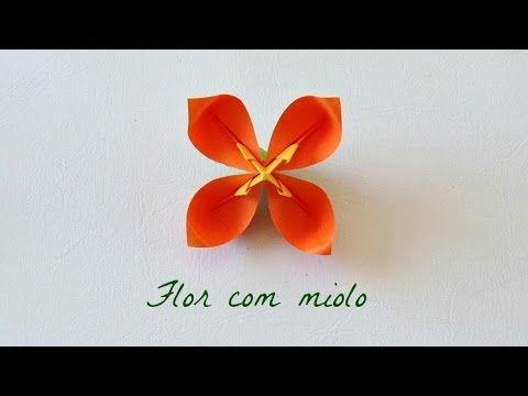 Photo of Origami: Flor de quatro pétalas – Flower four petals