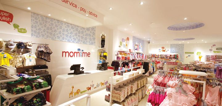 Mom and me store by mynt design dubai store design space retail pinterest store design - Baby gear for small spaces style ...