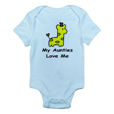 d027e94d1 My Aunties Love Me Infant Creeper Baby Light Bodysuit | ONESIES! MY ...