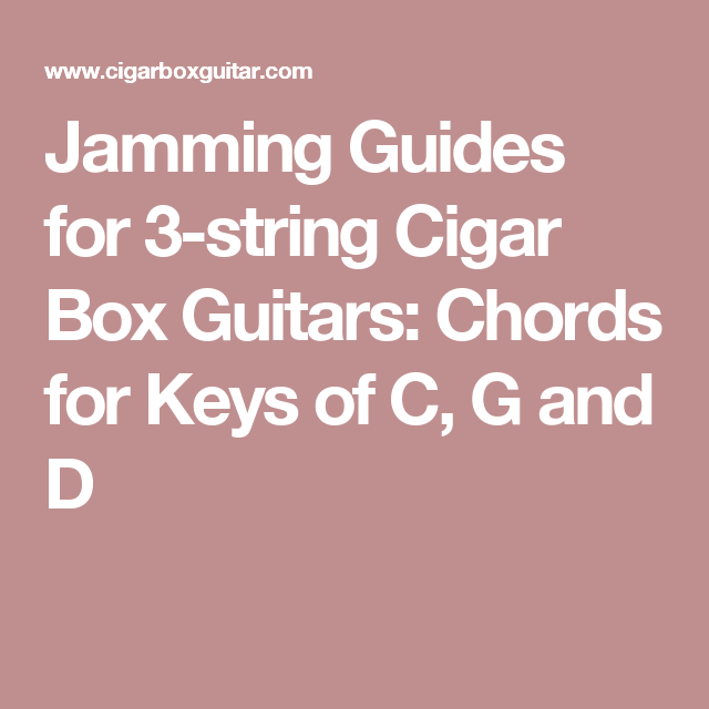 Jamming Guides For 3 String Cigar Box Guitars Chords For Keys Of C
