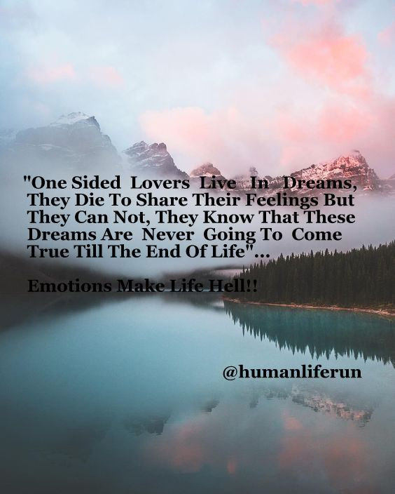 One Sided Love Quotes True Love One side lovers live
