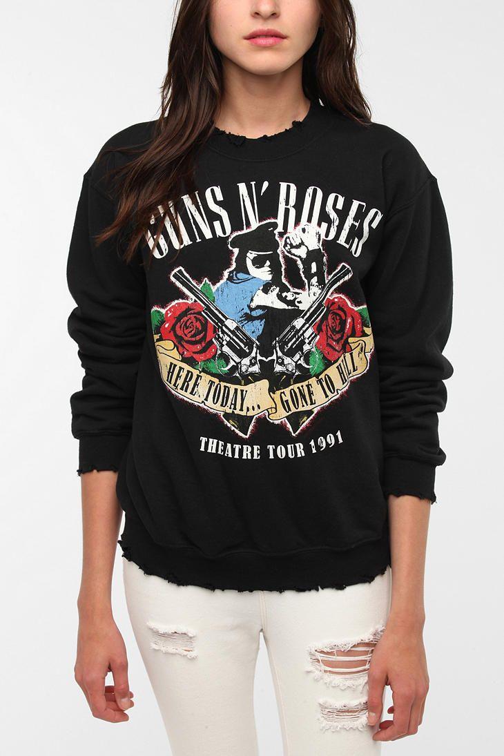 Guns N Roses Rock Band Sweatshirt Urbanoutfitters  That Should Be In -5257