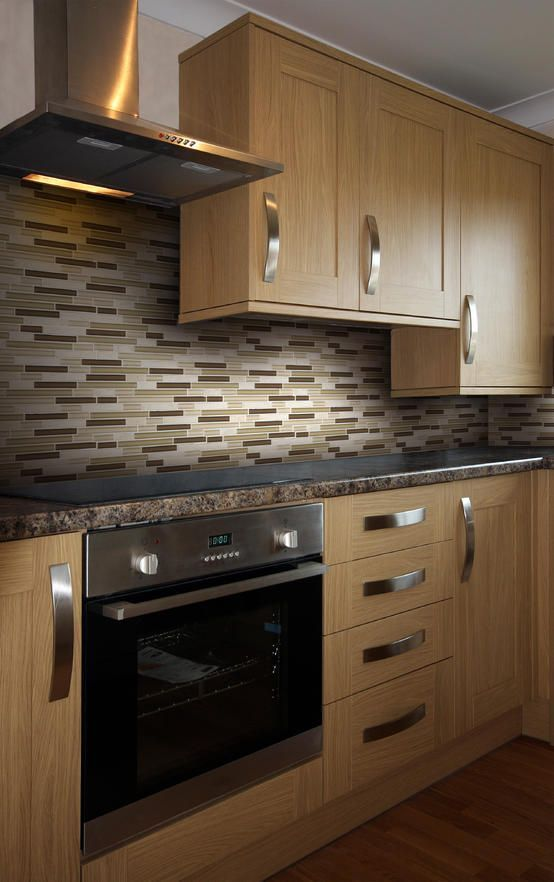 Beautiful Backsplash For Kitchen With Natural Wood Cabinets Home