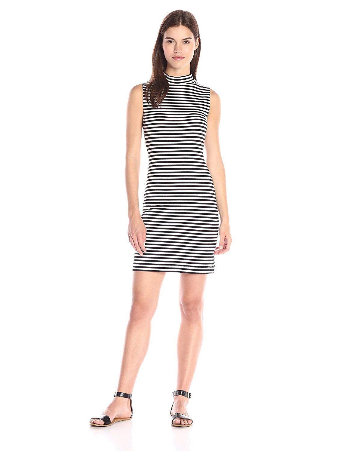 9bc384d6 French Connection Women's Licorice Lines Sleeveless Dress * New and awesome  product awaits you, Read it now : Evening dresses