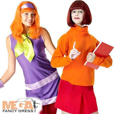 #Daphne + velma #scooby doo ladies couple #costume womens halloween fancy dress n,  View more on the LINK: http://www.zeppy.io/product/gb/2/400982346726/