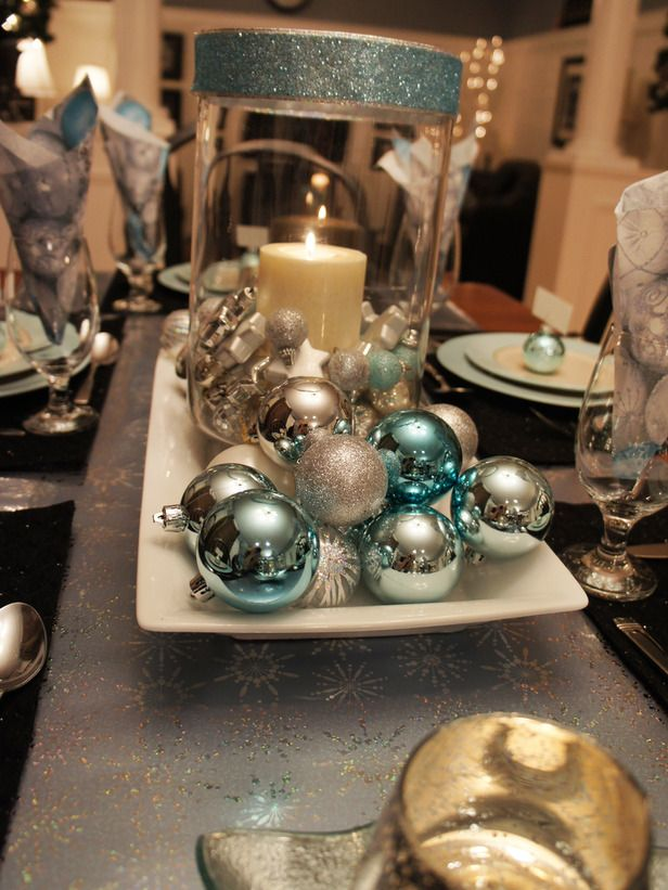 Elegant Christmas Centerpiece Decor