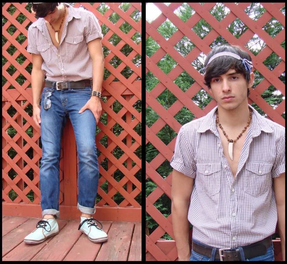 Fashion style Hippie modern clothes for men photo for woman