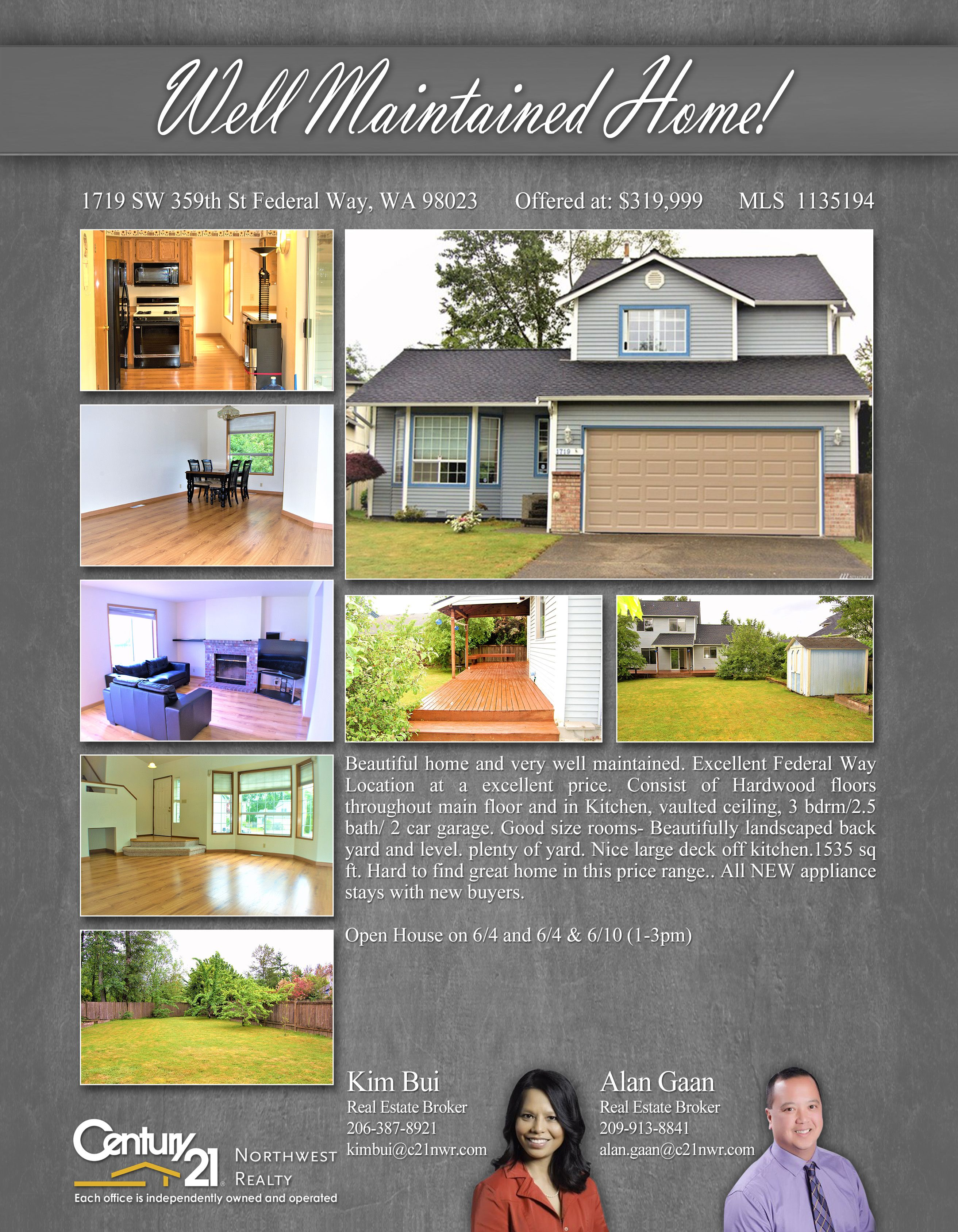 Captivating Beautiful Home And Very Well Maintained. Excellent Federal Way Location At  A Excellent Price.