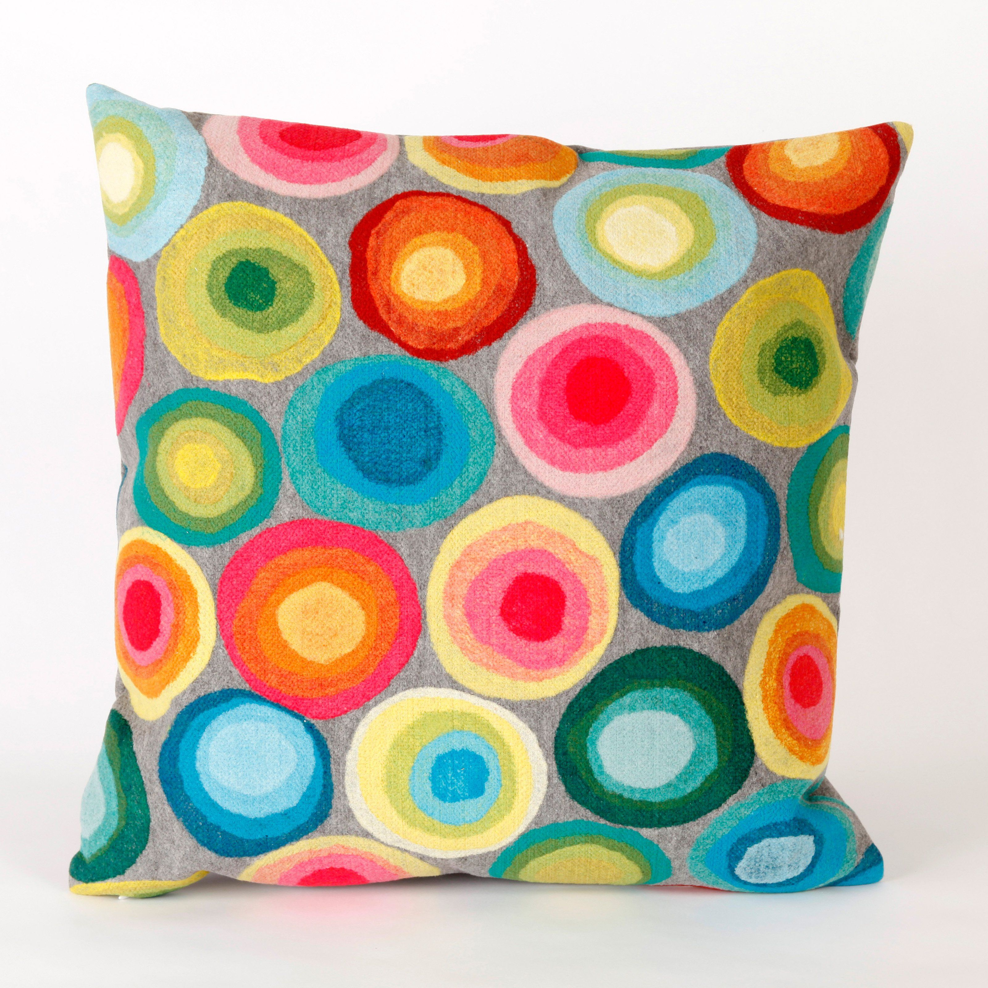 Have to have it. Liora Manne Puddle Dot Indoor / Outdoor Throw Pillow - $44.99 @hayneedle