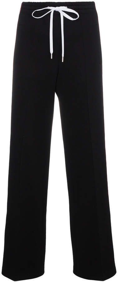 contrast logo striped trousers - Black Miu Miu 3dBlnd1Z